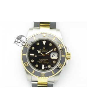 Submariner TT Black Diamond Dial BP Maker Best Edition Swiss ETA2836