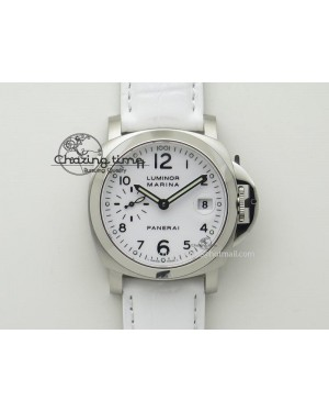 PAM049 F V6F 1:1 Best Edition On White Leather Strap A7750