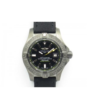 Avenger II Seawolf DLC Best Edition Black Stick Dial On Nylon Strap A2836 (Free Leather Strap) V2