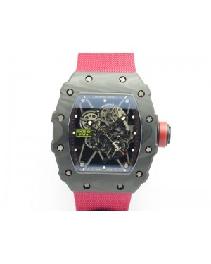 RM035-02 Rafael Nadal FC Caseback KVF Best Edition Skeleton Dial Red On Red Nylon Strap MIYOTA8215 V2