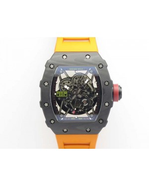 RM035-02 Rafael Nadal FC Ti Case KVF Best Edition Skeleton Dial Red On Rubber Strap MIYOTA8215 V2