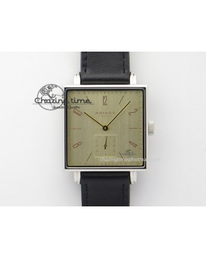 Tetra SS Gold Dial On Black Leather Strap A2813