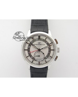 1966 Dual Time SS TF 1:1 Best Edition White Dial On Brown Leather Strap A3300