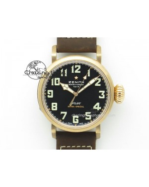 Pilot Type 20 Extra Special Bronze V6F 1:1 Best Edition On Brown Asso Strap MIYOTA 9015