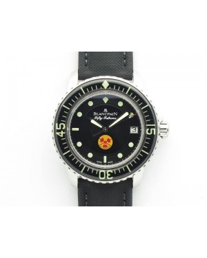 "Fifty Fathoms ZF 1:1 Best Edition SS ""No Radiation"" Dial On Sail-Canvas Strap A2836"