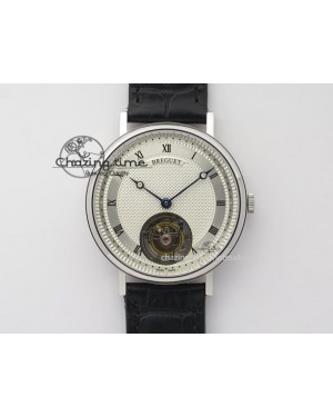 Grand Complication Tourbillon SS AXF White Dial On Black Leather Strap
