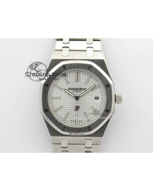 Royal Oak 39mm 15202 SS White Dial On SS Bracelet MIYOTA9015