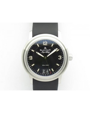 LEMAN 2850B SS 1:1 Best Edition Black Dial On Black Rubber Strap Cal.6950