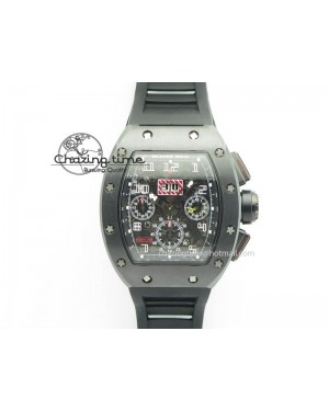 RM011 Felipe Massa Black Ceramic/DLC RMF Black Crown On Black Rubber Strap A7750