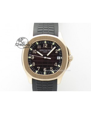 Aquanaut Jumbo RG Bp-Maker Best Edition Brown Dial On Black Rubber Strap MIYOTA 9015 PP324CS