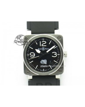 BR 03-92 SS Case V2 42.5mm Black Dial FAYETTE On Rubber Strap MIYOTA 9015