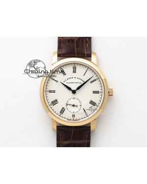 Richard Lange MK Best Edition RG White Dial Roman Markers Sec@6 On Brown Leather Strap A88275