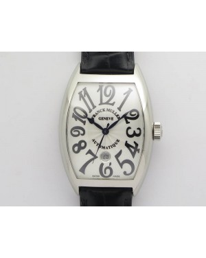 Casablanca Date SS GF 1:1 Best Edition White Dial On Black Leather Strap A2824