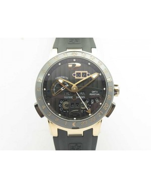 Executive Toro RG TWA 1:1 Best Edition Black Dial On Rubber Strap Asian UN-32