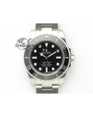 Submariner 114060 No Date Black Ceramic 1:1 Noob Best Edition A2836 V6s