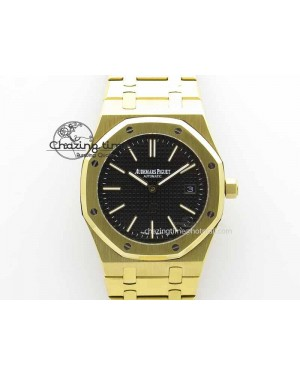 Royal Oak 39mm 15202 YG Black Dial On YG Bracelet MIYOTA9015