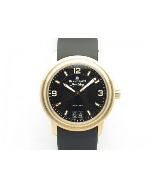 LEMAN 2850B RG 1:1 Best Edition Black Dial On Black Rubber Strap Cal.6950