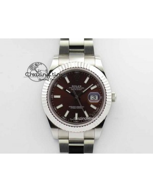 DateJust II 41mm SS BP Maker Best Edition Brown Dial On SS Bracelet SA3136