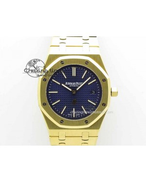 Royal Oak 39mm 15202 YG Blue Dial On YG Bracelet MIYOTA9015