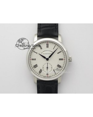 Richard Lange MK Best Edition SS White Dial Roman Markers Sec@6 On Black Leather Strap A88275