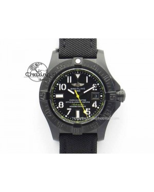 Avenger II Seawolf PVD Black Dial Yellow Markers On Black Nylon Strap A2836