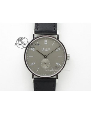 Tangente SS Grey Dial On Black Leather Strap A2813