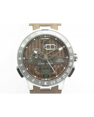 Executive Toro SS TWA 1:1 Best Edition Brown Dial On Rubber Strap Asian UN-32