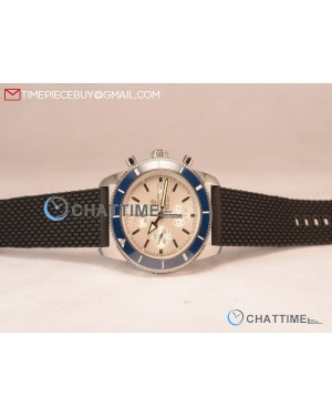 SuperOcean Heritage Chronograph Blue Ceramic Bezel Steel Watch -A13313121G1C1