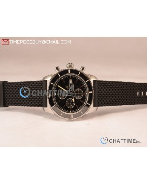 SuperOcean Heritage Chronograph Black Ceramic Bezel Steel Watch -A13313161B1A1