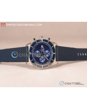 SuperOcean Heritage Chronograph Blue Ceramic Bezel Steel Watch -A13313161C1A1