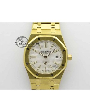 Royal Oak 39mm 15202 YG White Dial On YG Bracelet MIYOTA9015