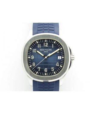 Aquanaut Jumbo 42mm SS BP Maker 1:1 Best Edition Blue Dial On Blue Rubber Strap APP324CS