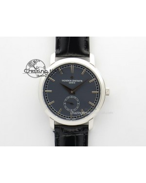 VC Sec@6 SS UT Best Edition Gray Dial Sticks Markers On Black Leather Strap