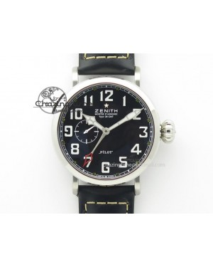 Pilot Type 20 Extra Special SS 47mm Black Dial on black Asso Strap A23J