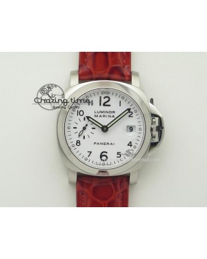 PAM049 F V6F 1:1 Best Edition On Red Leather Strap A7750
