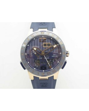 Executive Toro RG TWA 1:1 Best Edition Blue Dial On Rubber Strap Asian UN-32