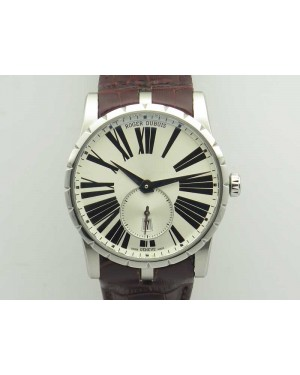 Excalibur Dbex0535 SS RDF 1:1 Best Edition White Dial On Leather Strap Asian RD830