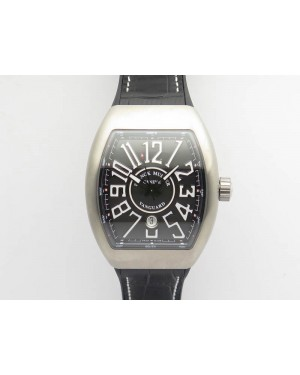 Vanguard V45 Ti TF 1:1 Best Edition Black Dial On Black Leather Strap A2892