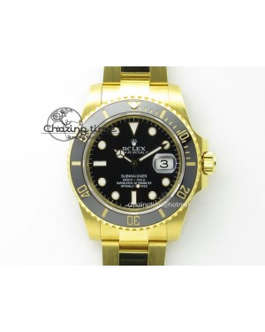 Submariner 116618 LN Bp-Maker Best Edition Black Dial On YG Bracelet ETA2836