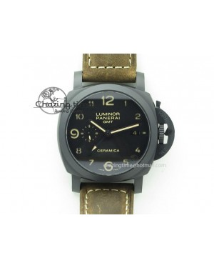 PAM441 O Real Ceramic ZF 1:1 Best Edition on Brown Asso Strap ZP.9001