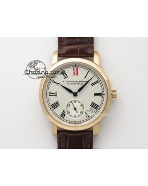 Anniversary Langematik MK Best Edition RG White Dial Sec@6 On Brown Leather Strap A88275