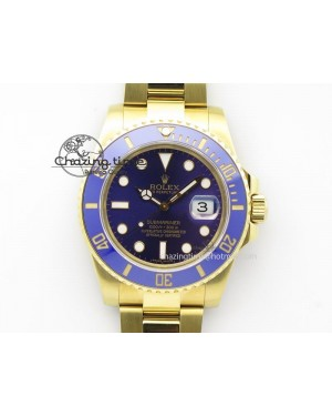 Submariner Full Gold Blue Dial BP Best Edition Swiss ETA2836