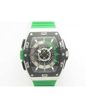 Skafander SS Green On Green Rubber Strap MIYOTA 8215