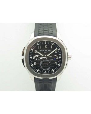 Aquanaut Time Travel 5164A SS Black Dial On Rubber Strap 324SC