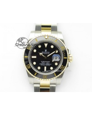 Submariner 116613 LN Noob 1:1 Best Edition YG Wrapped Bezel Black Dial On SS/YG Bracelet A2836