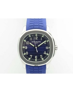 Aquanaut 5167 SS PF 1:1 Best Edition Blue Dial On Rubber Strap A2824