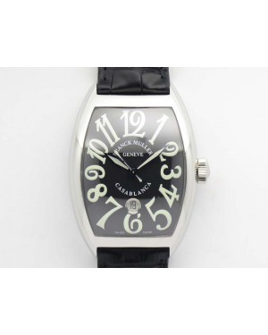 Casablanca SS TW 1:1 Best Edition Black Dial On Black Leather Strap A2824