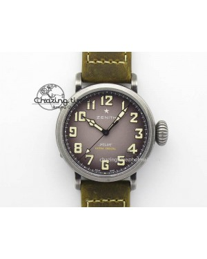 Pilot Type 20 Extra Special 40mm Aged SS V6F 1:1 Best Edition On Asso Strap MIYOTA9015 (Brown)