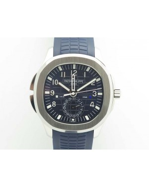 Aquanaut Time Travel 5164A SS Blue Dial On Rubber Strap 324SC