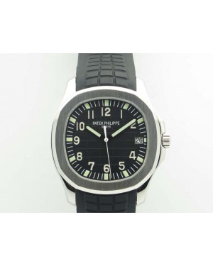 Aquanaut 5167 SS PF 1:1 Best Edition Black Dial On Rubber Strap A2824